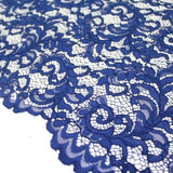 Raschel Corded Lace Royal