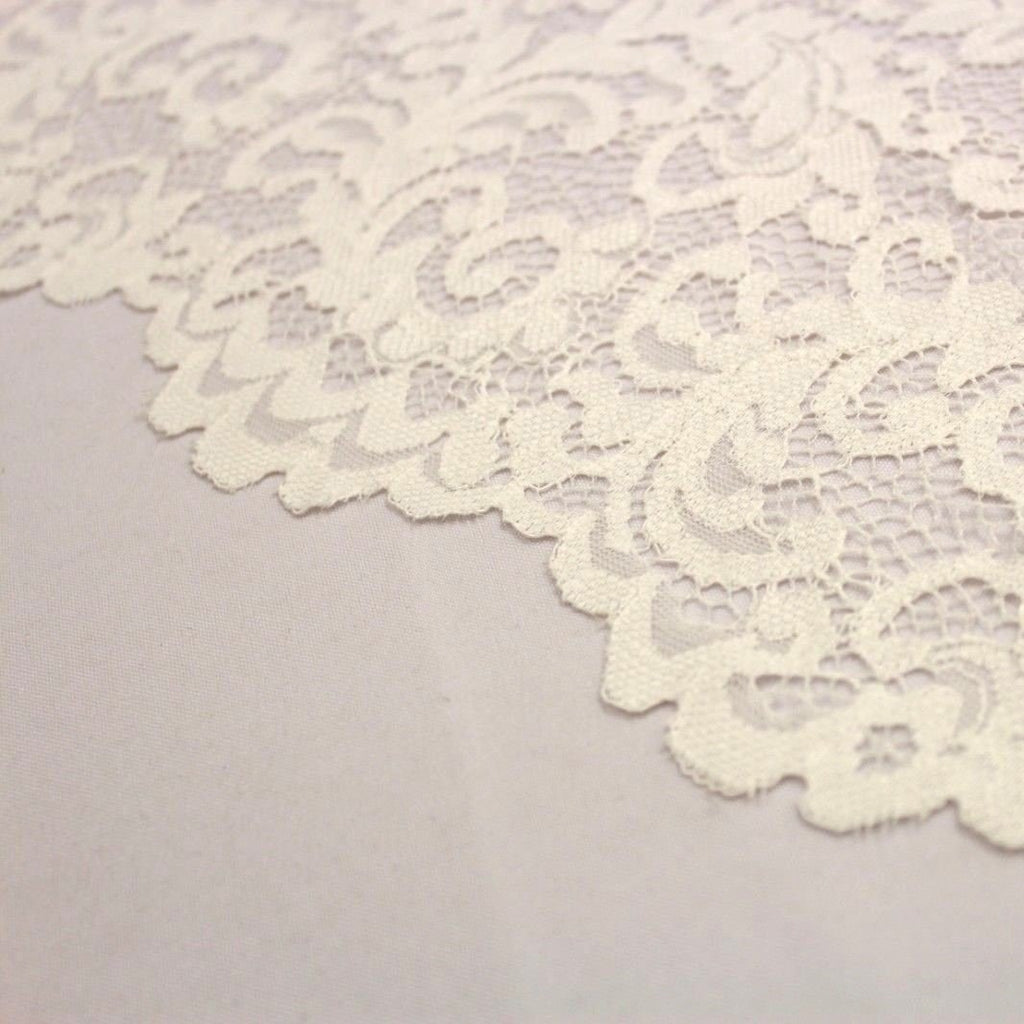 Raschel Corded Lace Ivory