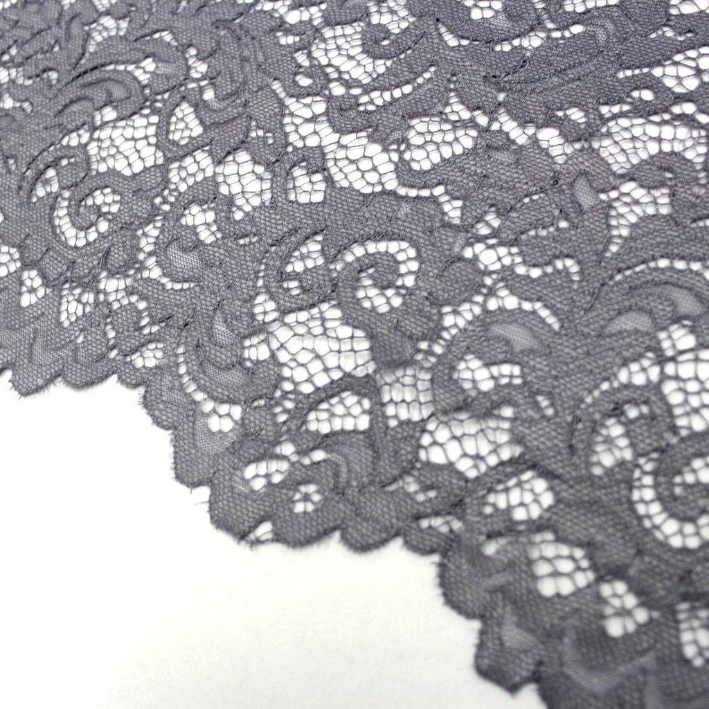 Raschel Corded Lace Grey