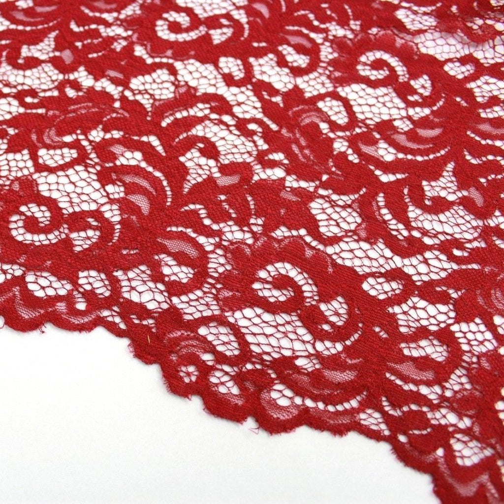 Raschel Corded Lace Wine