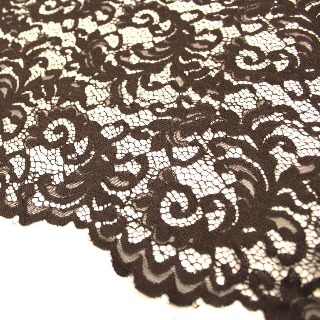 Raschel Corded Lace Dark Brown