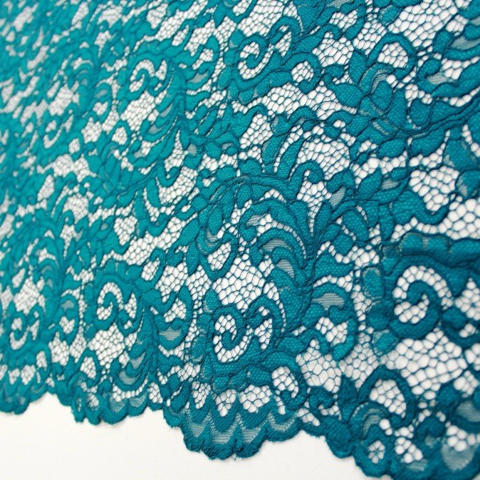Raschel Corded Lace Teal