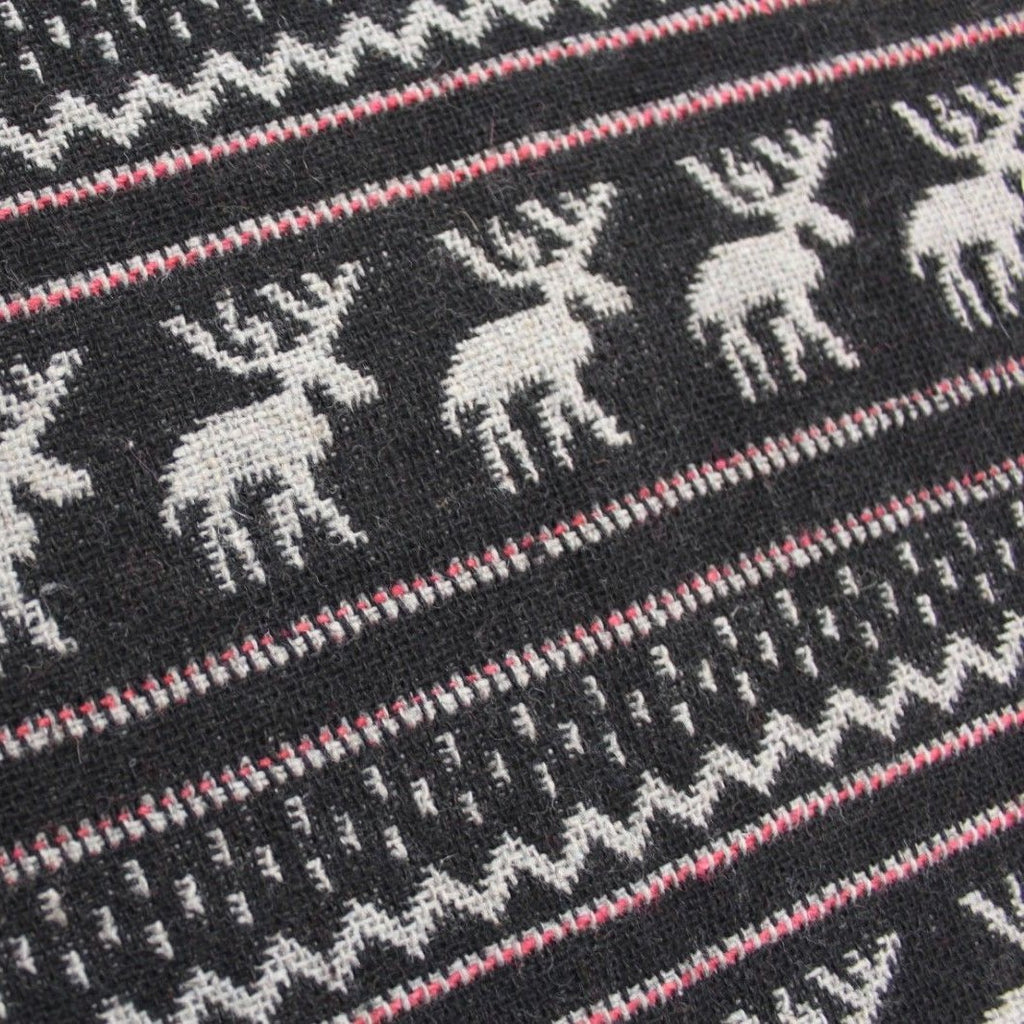 Premium Wool Black & White Collection Reindeers
