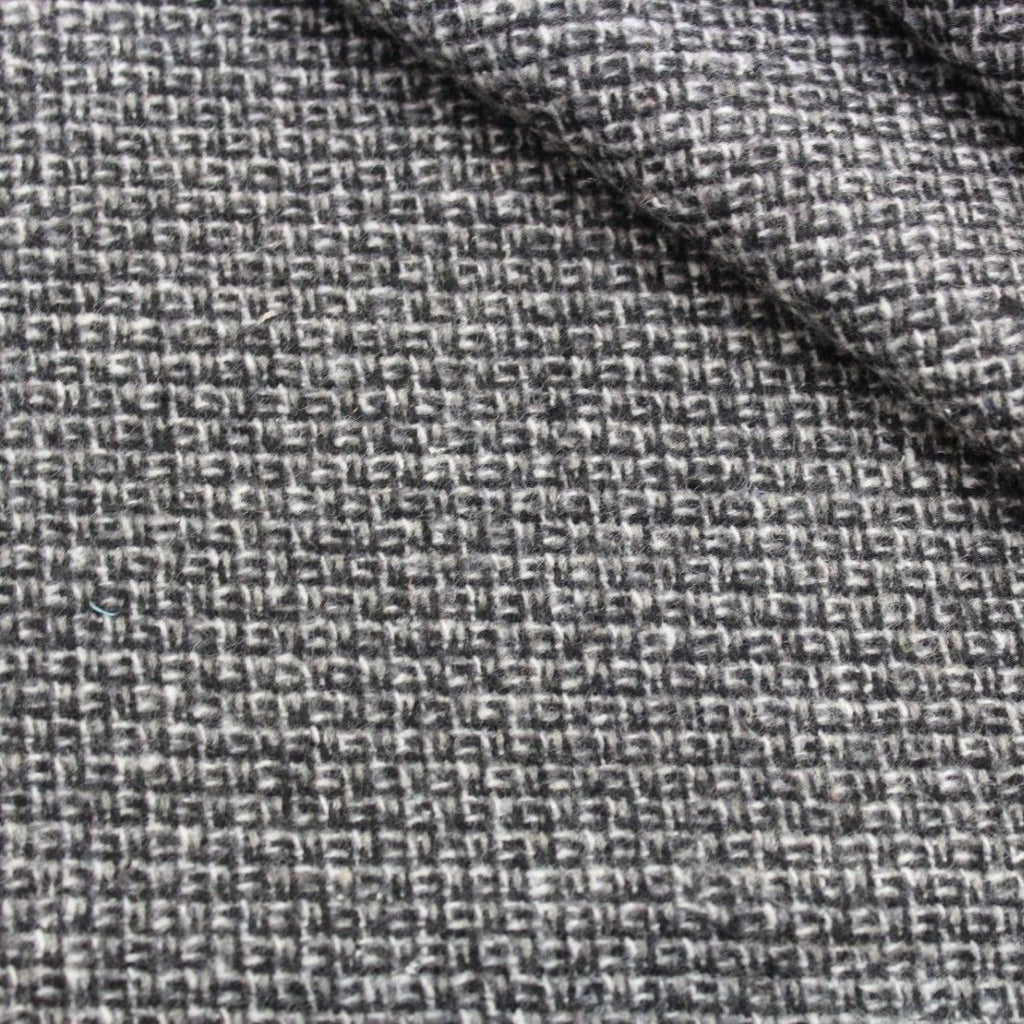 Premium Heavy Wool Blend Small Cross Knit Fabric