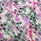 Printed Satin Stripe Chiffon