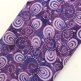 "Bali Indonesian Batik, Swirl Design, 44"" - Purple BK122 I"