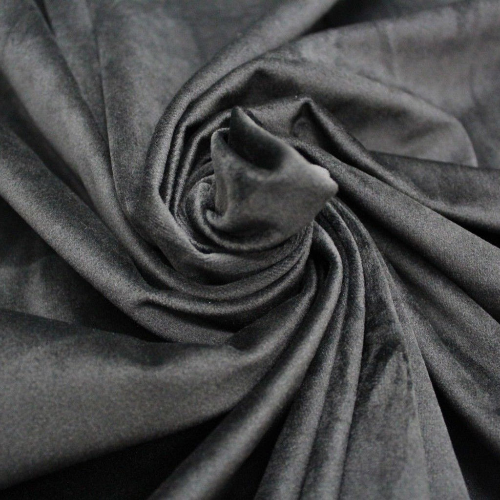Super Soft Premium Velvet Fabric PO81/10 Black