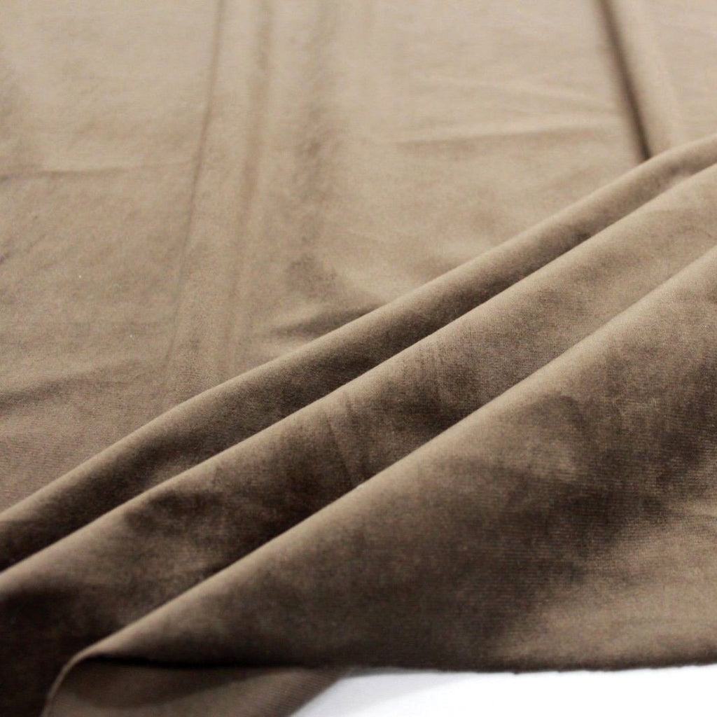 Super Soft Premium Velvet Fabric PO81/6 Brown