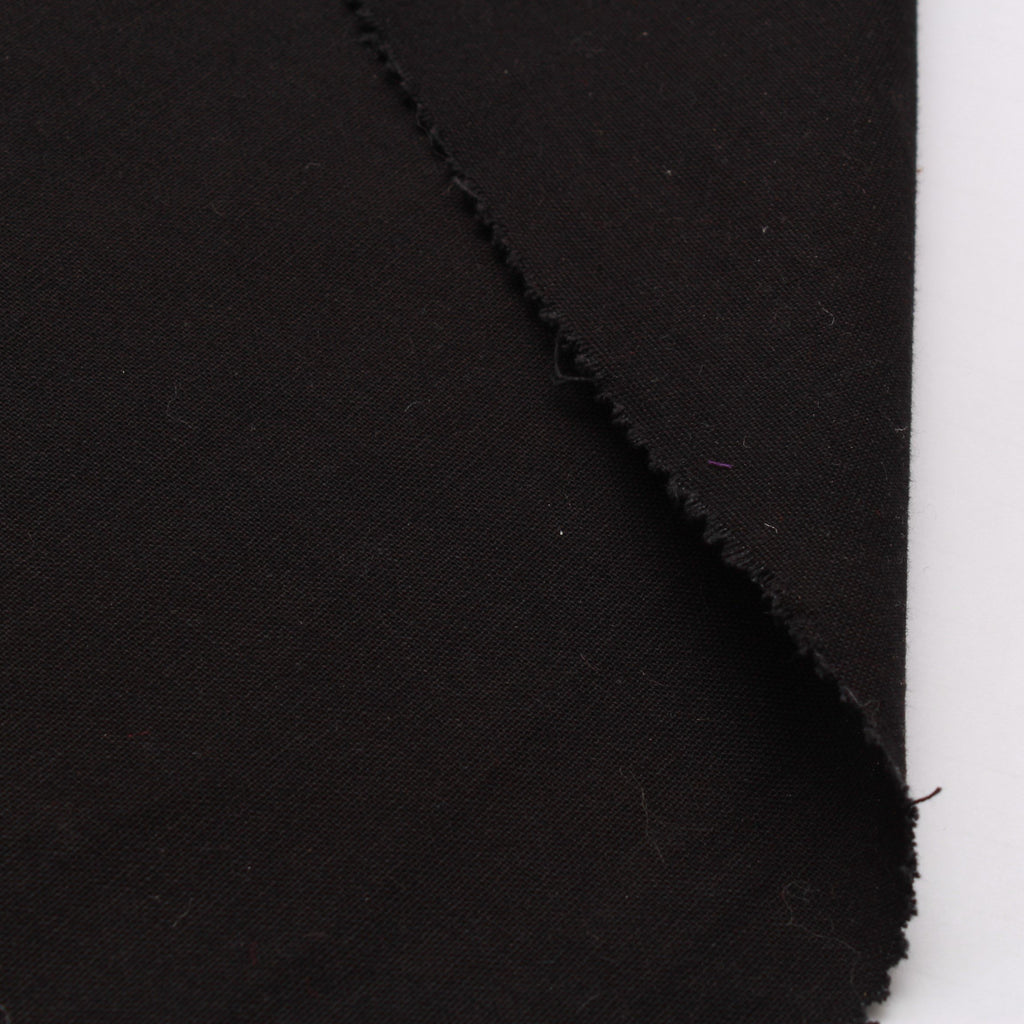 "100% Cotton Canvas, Plain 44"" - Black 210 GSM"
