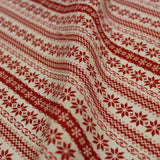 Premium Printed Christmas Polycotton Scandi Red