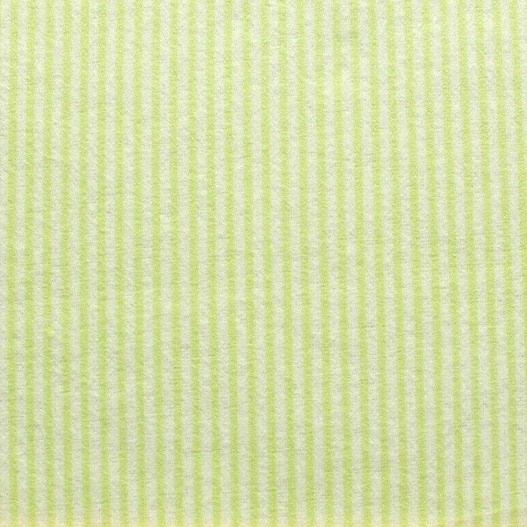 "Stripes On White, Soft Print Brushed Cotton, Approx 44"" (112cm) Wide"