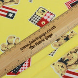 "Patriotic Bears, Soft Print Brushed 100% Cotton, Approx. 42"" (108cm) Wide"