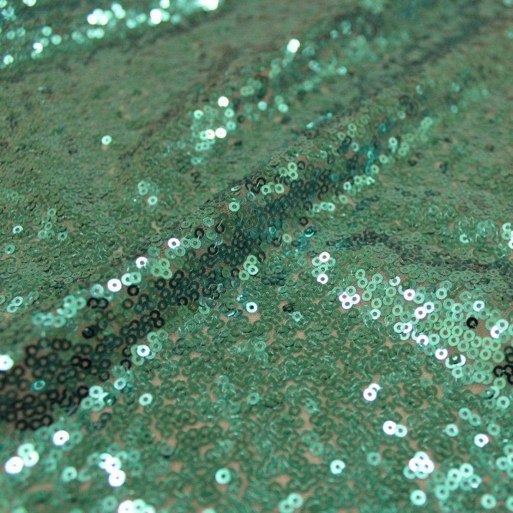 Sequins On Dress Net Light Green