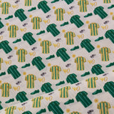 100% Premium Quilting Cotton, Football Range - Green Whistles FF228-3