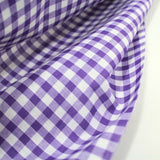 "1/4"" Small Gingham Polycotton Fabric - 65% Polyester 35% Cotton"