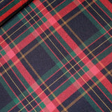 3FOR15 Polyviscose Plaid Check Fabric