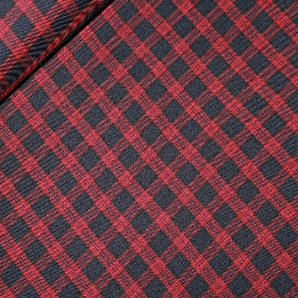 "Polyviscose Plaid Check Tartan Fabric, Approx. 60"" (150cm) Wide"