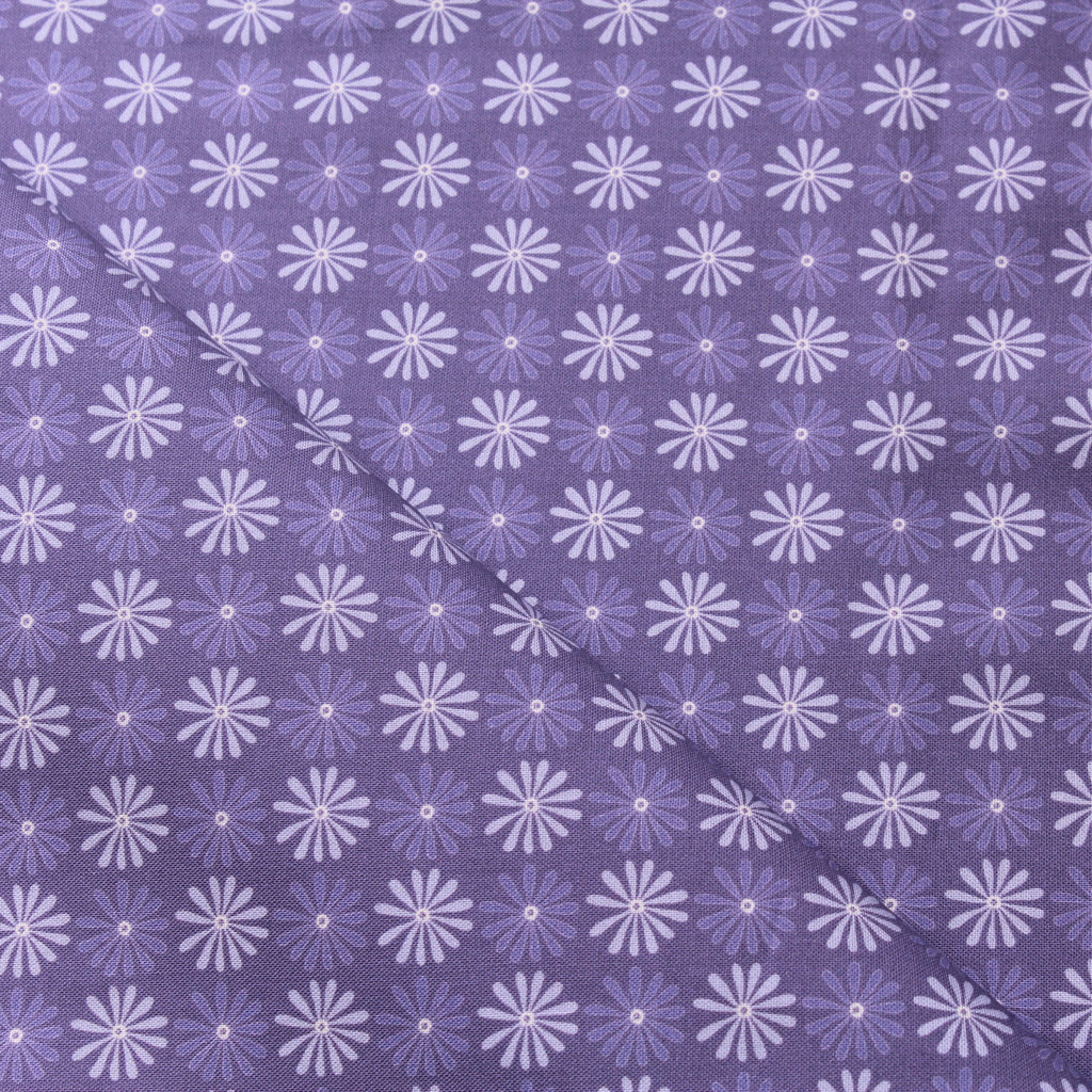 TFG Purple Quilting Cotton, Small Floral, Springtime Floral Collection FF402.1