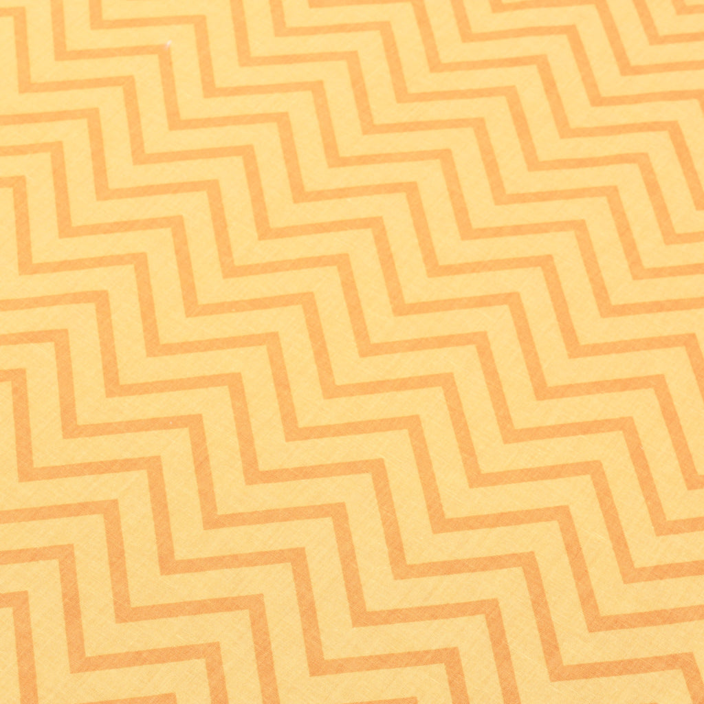 JOANN Poplin, Orange/Gold Glow Tonal Chevrons