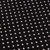 JOANN Poplin, Small White Dots on Black