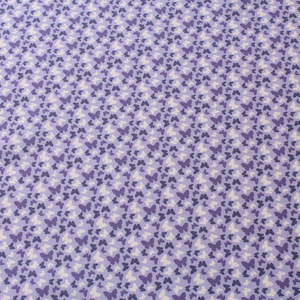 TFG Purple Quilting Cotton, Butterflies, Springtime Floral Collection FF400.1