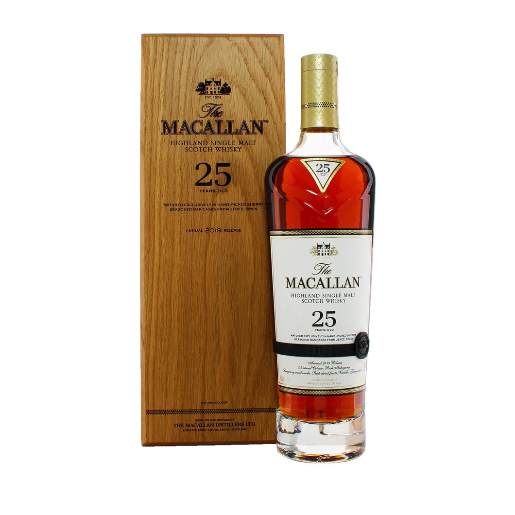 The Macallan Sherry Oak 25 Year Old Release 2019.7l