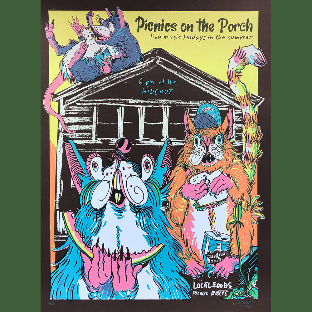 2018 Picnics on the Porch Series Poster