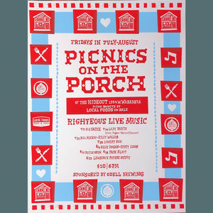 2017 Picnics on the Porch Poster