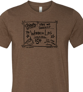 Wooden Leg T Shirt (Black Print)