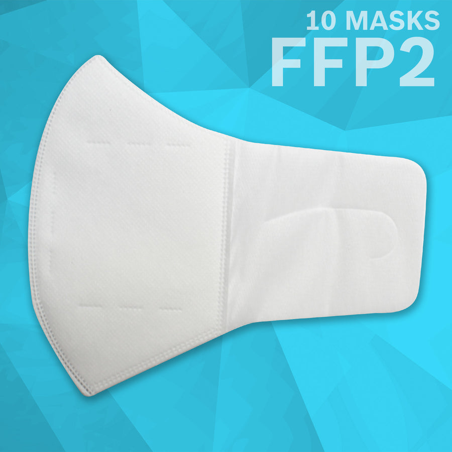 Comfort Loop 3 Layer (FFP2) Non Woven Disposable Respirator Mask (10 Masks) | White