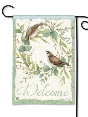 31863 Eucalyptus Wreath Garden Flag (Flag Stand Sold Separately)