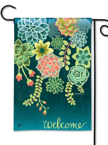 Boho Succulents Garden Flag (Flag Stand Sold Separately)