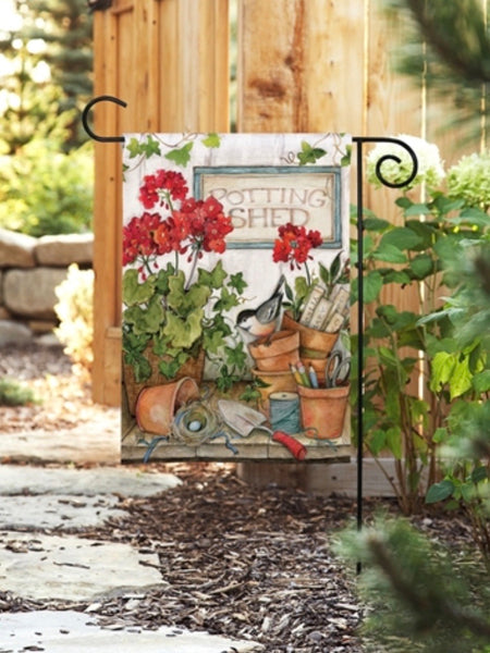 Stay Awhile Garden Flag (Flag Stand Sold Separately)