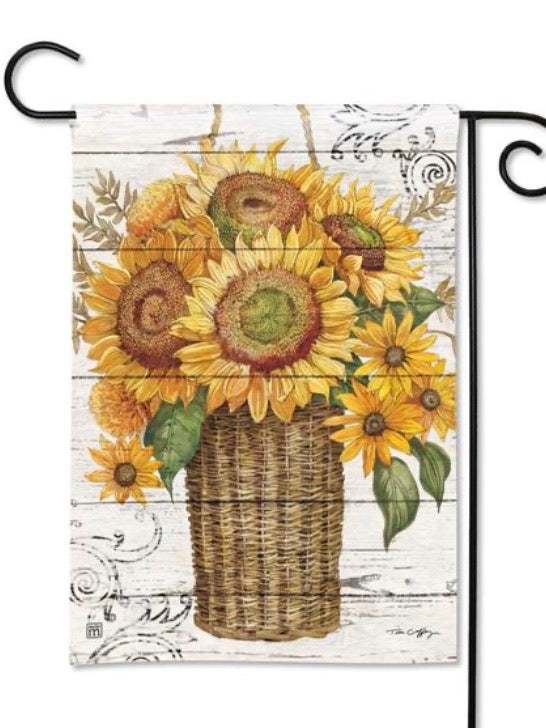 Farmhouse Sunflower Garden Flag (Flag Stand Sold Separately)