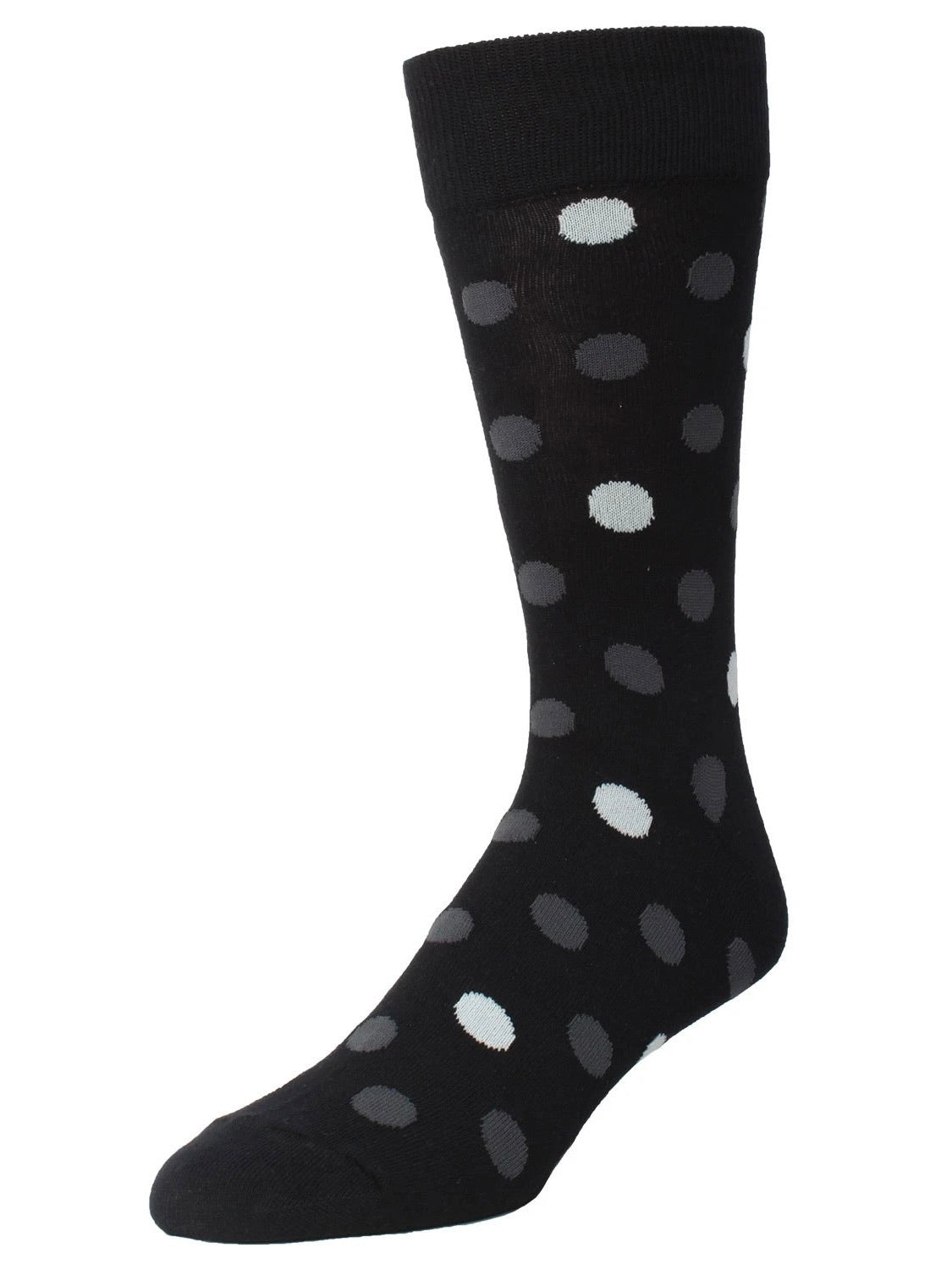 Men's Gabriel Two Tone Crew Socks Black