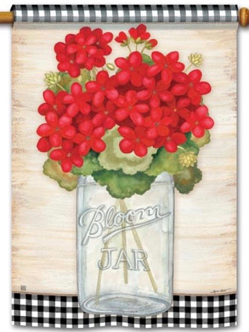 Geranium Blooms Standard Flag (Flag Pole Sold Separately)
