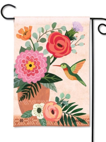 Terra Flora Hummingbird Garden Flag (Flag Stand Sold Separately)