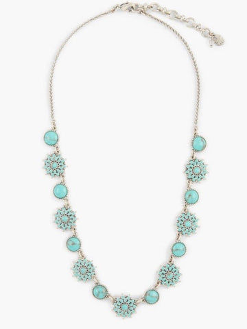 JLRY8548 040 Turquoise Collar Necklace