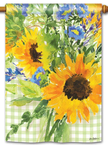 Sunflower Gingham Standard Flag (Flag Pole Sold Separately)