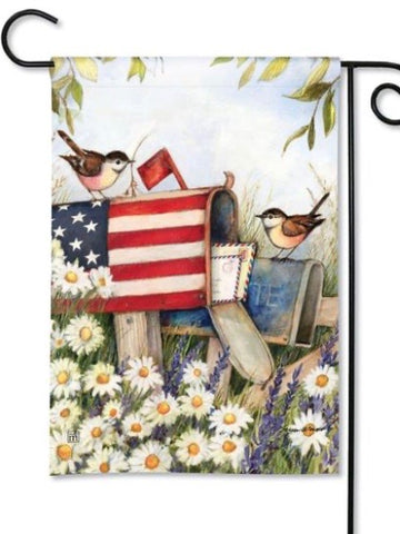 31852 Patriotic Mailbox Garden Flag (Flag Stand Sold Separately)