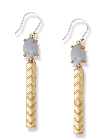 JWEL4056 710 GOLD BAR EARRINGS