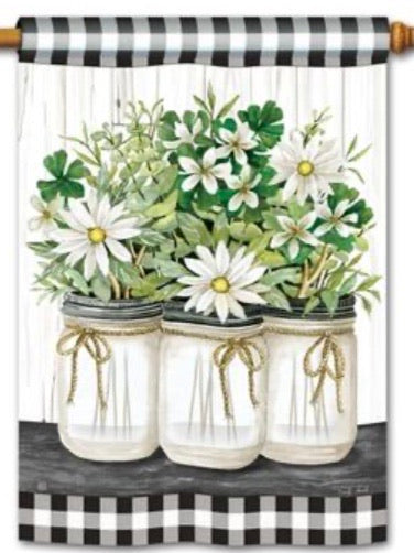 Farmhouse Daisies Standard Flag (Flag Pole Sold Separately)