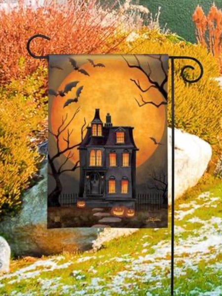 Dark Manor Garden Flag (Flag Stand Sold Separately)