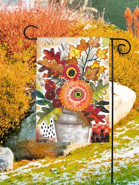 Fall Snippets Garden Flag (Flag Stand Sold Separately)