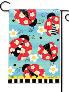 Folk Ladybugs Garden Flag (Flag Stand Sold Separately)