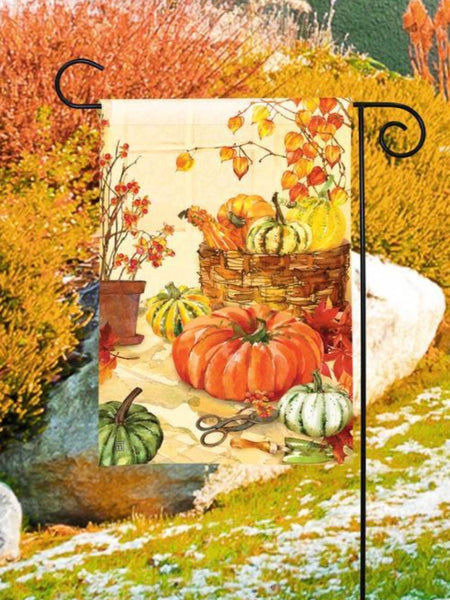 Heirloom Pumpkin Garden Flag (Flag Stand Sold Separately)