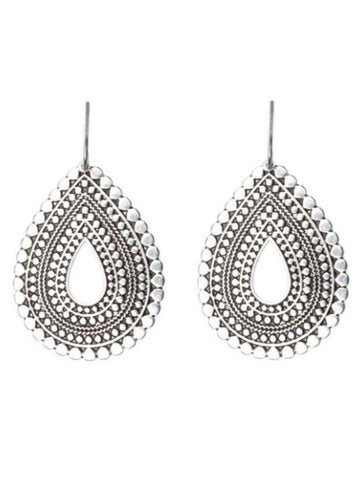 JLRU9726 040 Tribal Teardrop Earring