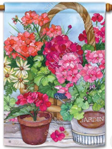 Geranium Variety Standard Flag (Flag Pole Sold Separately)