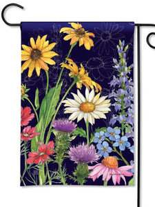 Wildflower Mix Garden Flag (Flag Stand Sold Separately)
