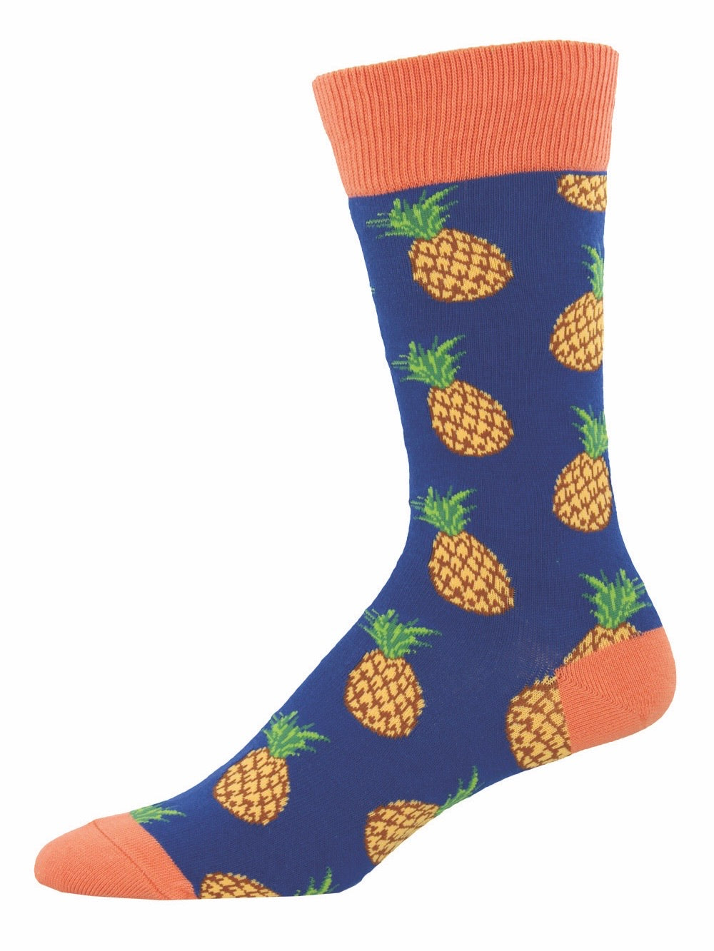 Men's Many Pineapples Socks Navy